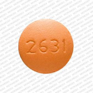 V 2631 Pill Images (Orange / Round)