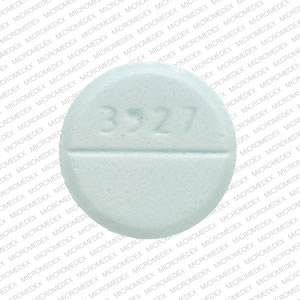 TEVA 3927 Pill Images (Blue / Round)