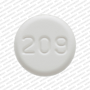 209 Pill Images (White / Round)