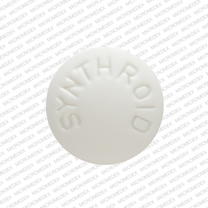 SYNTHROID 50 Pill Images (White / Round)