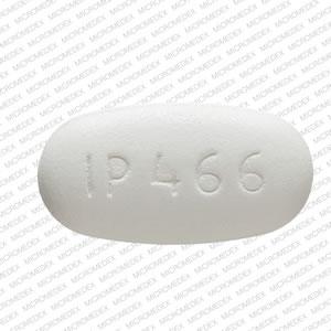 IP 466 Pill Images (White / Capsule-shape)