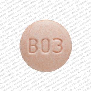 B03 LL Pill Images (Orange / Round)