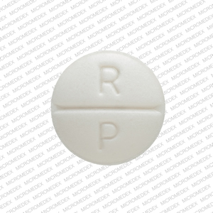 R P 10 Pill Images (White / Round)