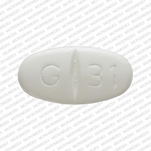 G 31 Pill Images (White / Elliptical / Oval)