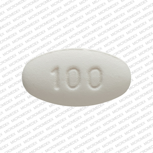 100 115 Pill Images (White / Elliptical / Oval)