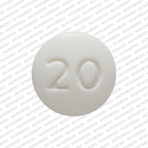 R P 20 Pill Images (White / Round)
