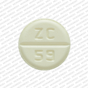 ZC 59 Pill Images (Yellow / Round)