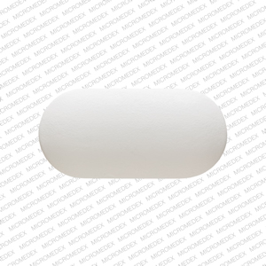 RX724 Pill Images (White / Elliptical / Oval)