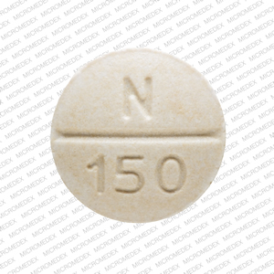 RLC N 150 Pill Images (White / Round)