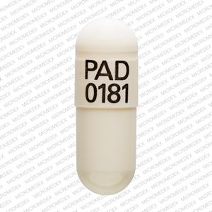 PAD 0181 Pill Images (White / Capsule-shape)