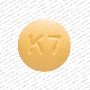 K 7 Pill Images (Yellow / Round)