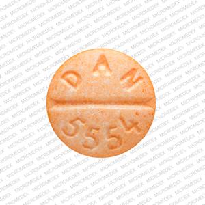 10 DAN 5554 Pill Images (Orange / Round)