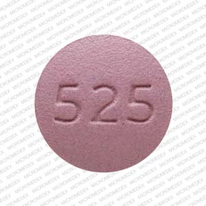 S 525 Pill Images (Purple / Round)