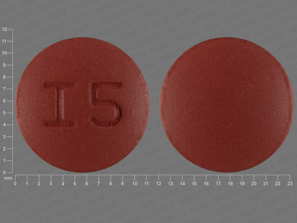 I5 Pill Images (Brown / Round)