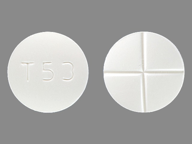 T 53 Pill Images (White / Round)
