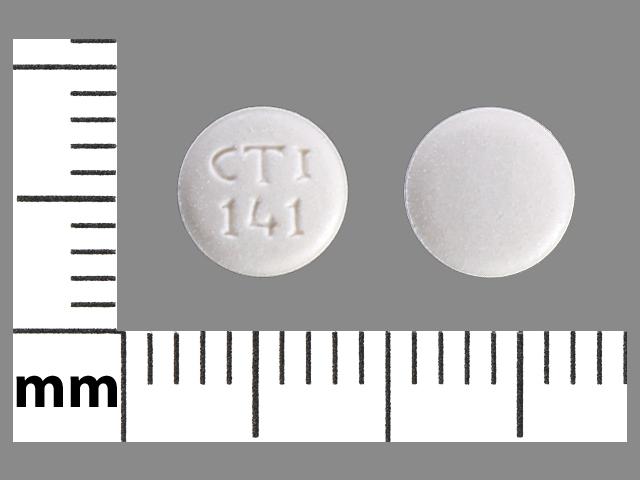 CTI 141 Pill Images (White / Round)