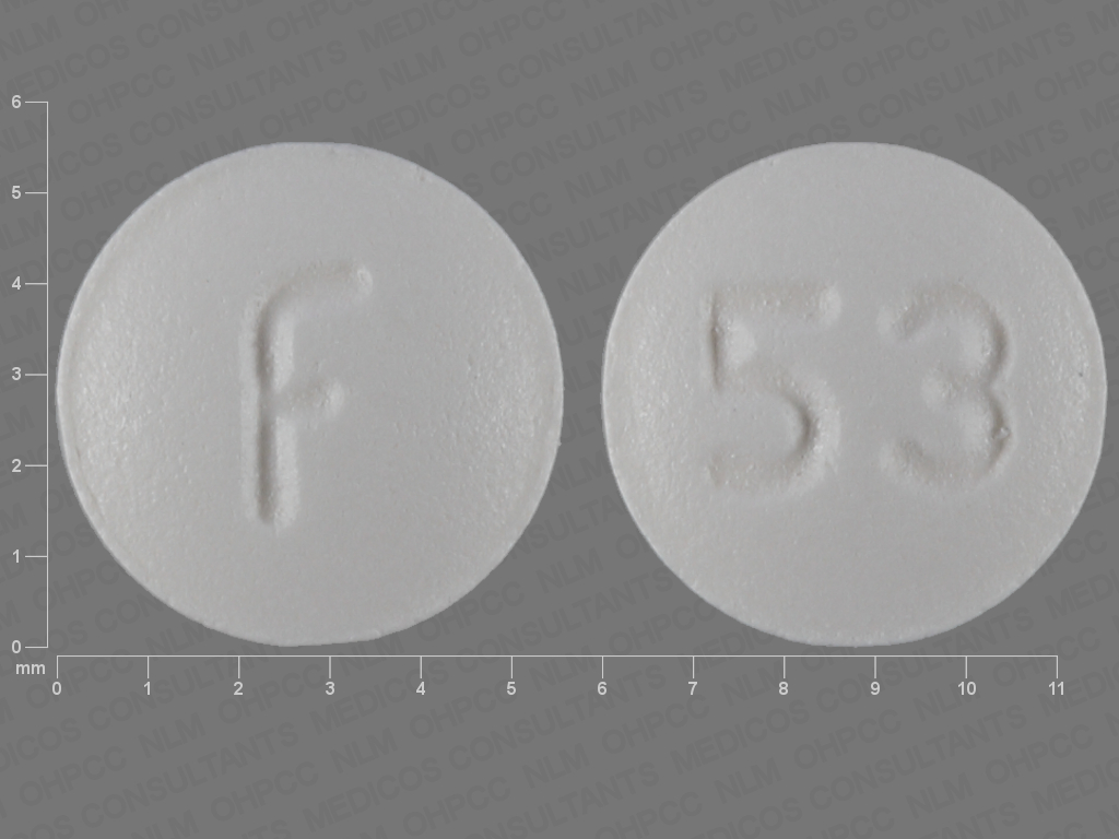 F 53 Pill Images (White / Round)
