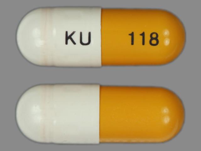KU 118 Pill Images (Gold & White / Capsule-shape)