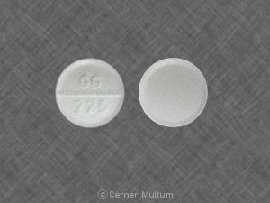 GG 225 Pill Images (White / Round)