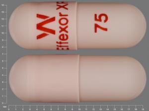 W Effexor XR 75 Pill Images (Peach / Capsule-shape)