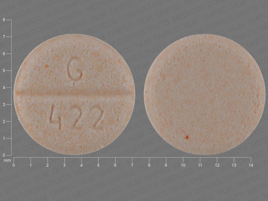 G 422 Pill Images (Orange / Round)