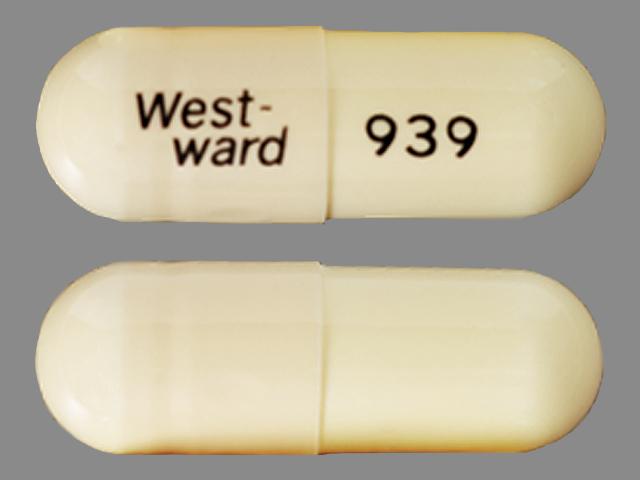 West-ward 939 Pill Images (White / Capsule-shape)