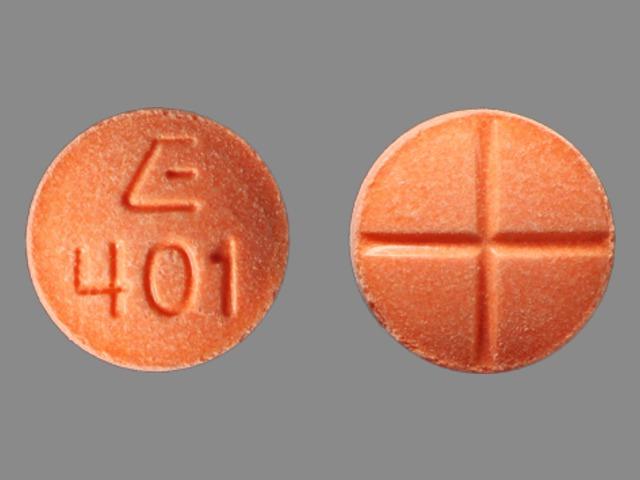 E 401 Pill Images (Orange / Round)