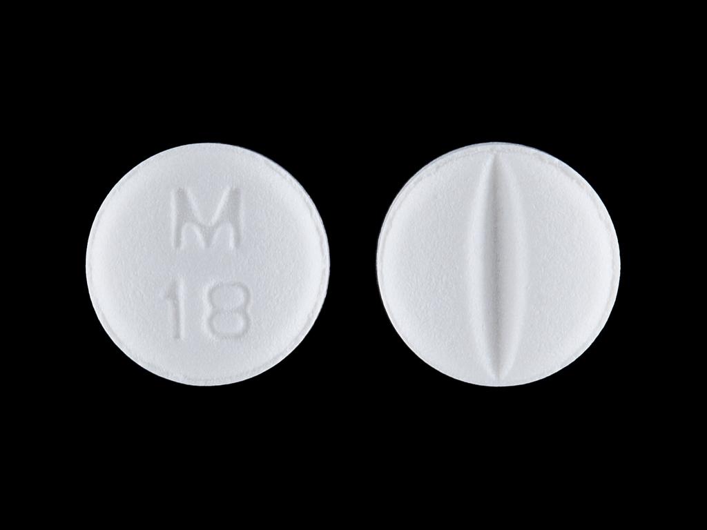 M 18 Pill Images (White / Round)