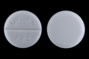 MYLAN 152 Pill Images (White / Round)