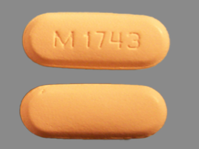 M 1743 Pill Images (Orange / Elliptical / Oval)
