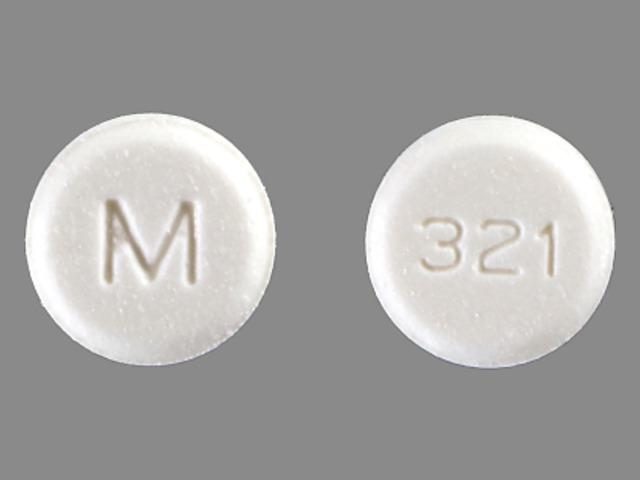 M 321 Pill Images (White / Round)