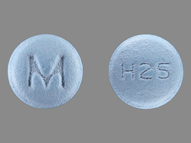M H25 Pill Images (Blue / Round)