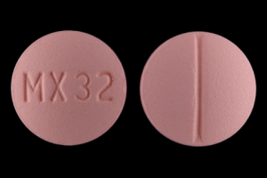 MX 32 Pill Images (Pink / Round)