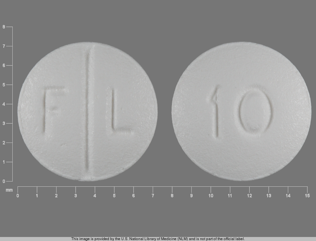 F L 10 Pill Images (White / Round)