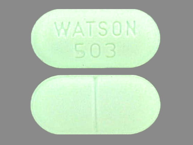 WATSON 503 Pill Images (Green / Elliptical / Oval)
