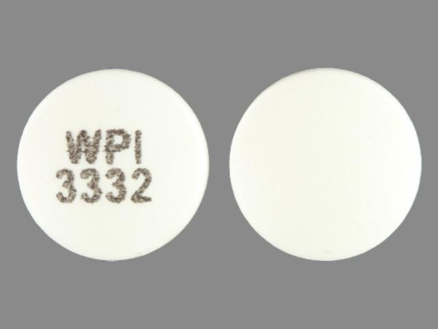 WPI 3332 Pill Images (White / Round)
