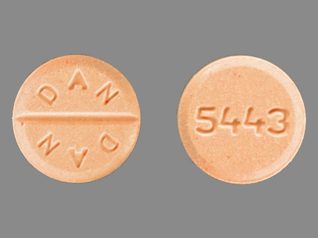 5443 DAN DAN Pill Images (Orange / Round)