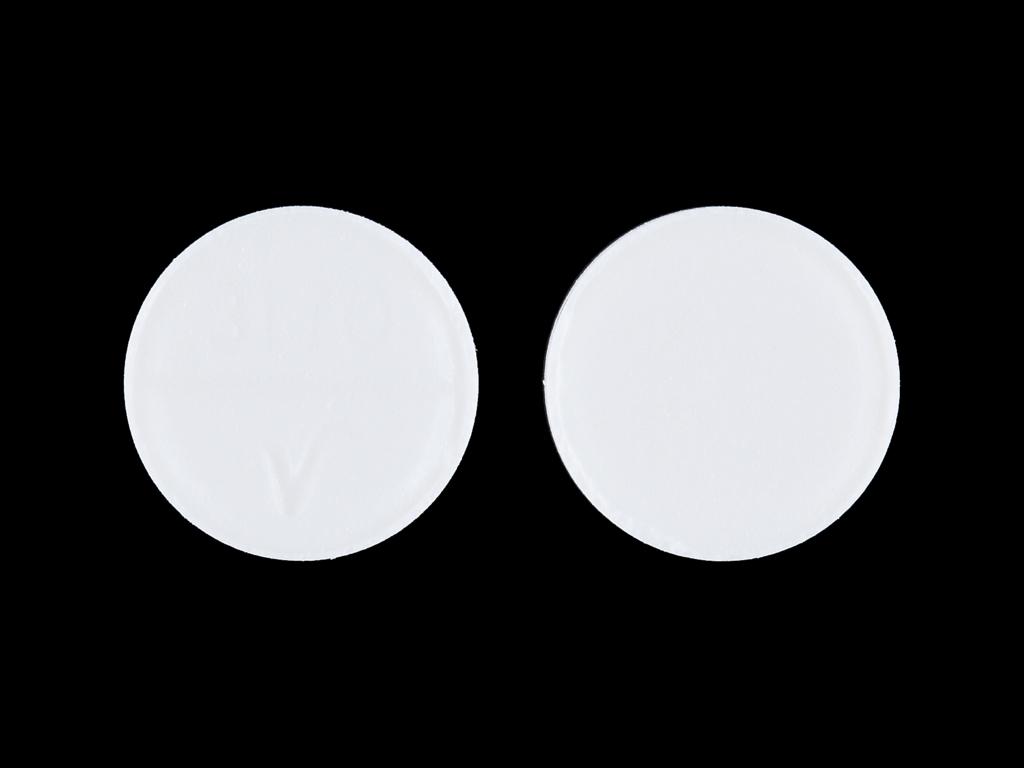 3170 V Pill Images (White / Round)