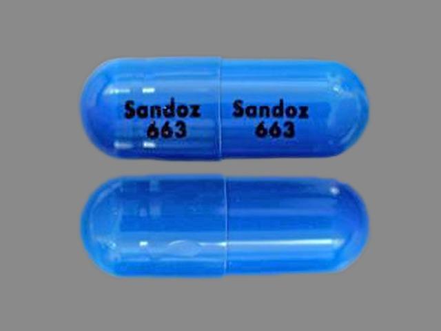 Sandoz 663 Sandoz 663 Pill Images (Blue / Capsule-shape)