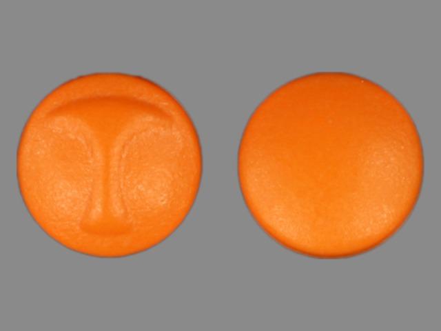 T Pill Images (Orange / Round)