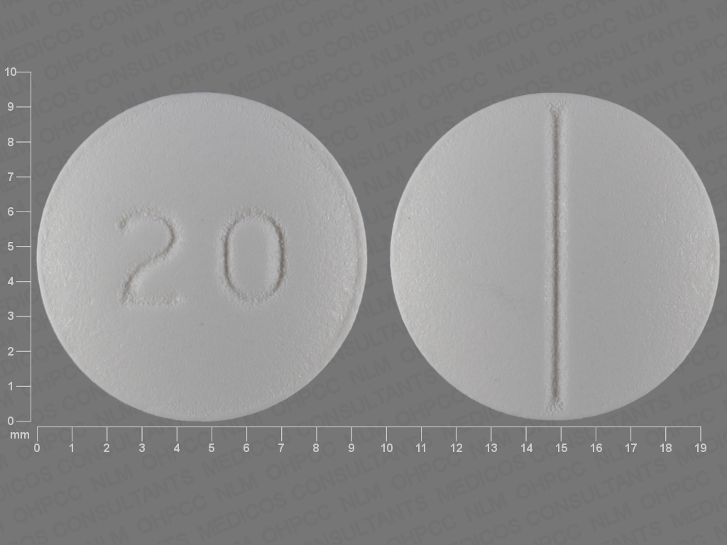 20 Pill Images (White / Round)