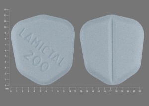 LAMICTAL 200 Pill Images (Blue / Six-sided)