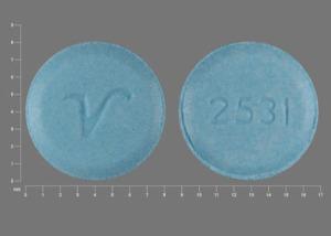 V 2531 Pill Images (Blue / Round)