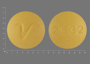 2632 V Pill Images (Yellow / Round)