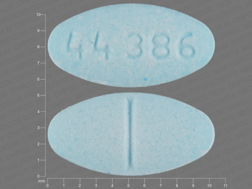 44 386 Pill Images (Blue / Elliptical / Oval)