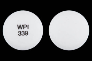 WPI 339 Pill Images (White / Round)