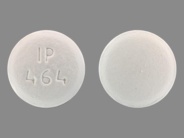 IP 464 Pill Images (White / Round)