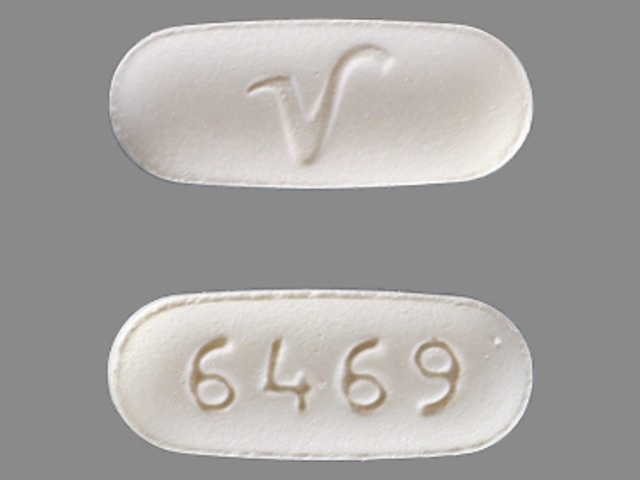 6469 V Pill Images (White / Capsule-shape)