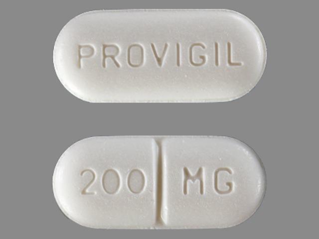 PROVIGIL 200 MG Pill Images (White / Capsule-shape)