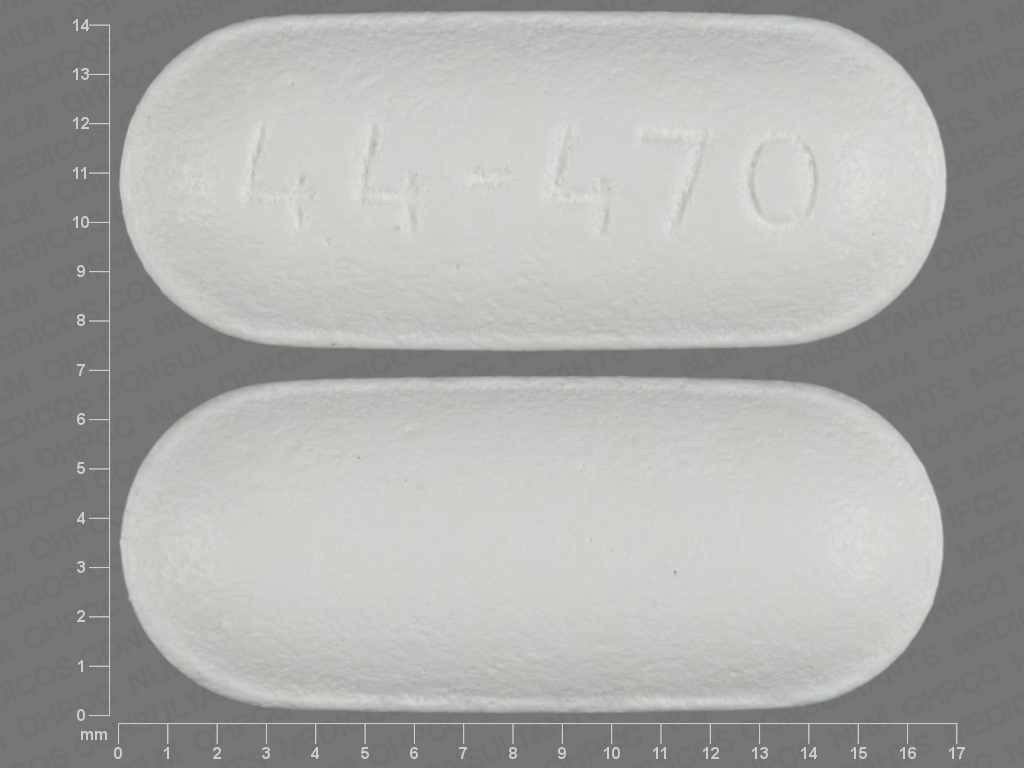 44 470 Pill Images (White / Elliptical / Oval)